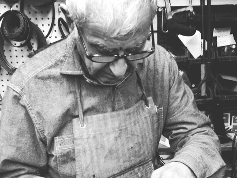 0c4f28371d George Sheklian, who passed away last December, is pictured repairing a  customer's shoe. He operated Sierra Shoe Repair at various Fresno locations  since ...