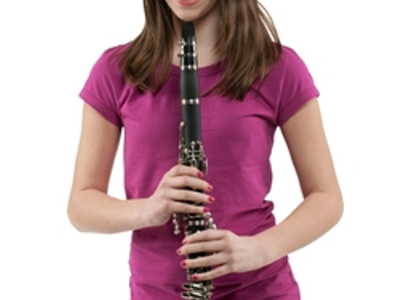 6 clarinet girl holding 3