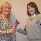 Former Unionville Fair president Danielle Chamberlain left hands the gavel to incoming president Deborah Deckman on Feb 24