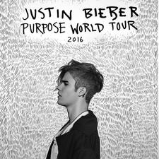 Justin Bieber PURPOSE WORLD TOUR - start Mar 26 2016 0730PM
