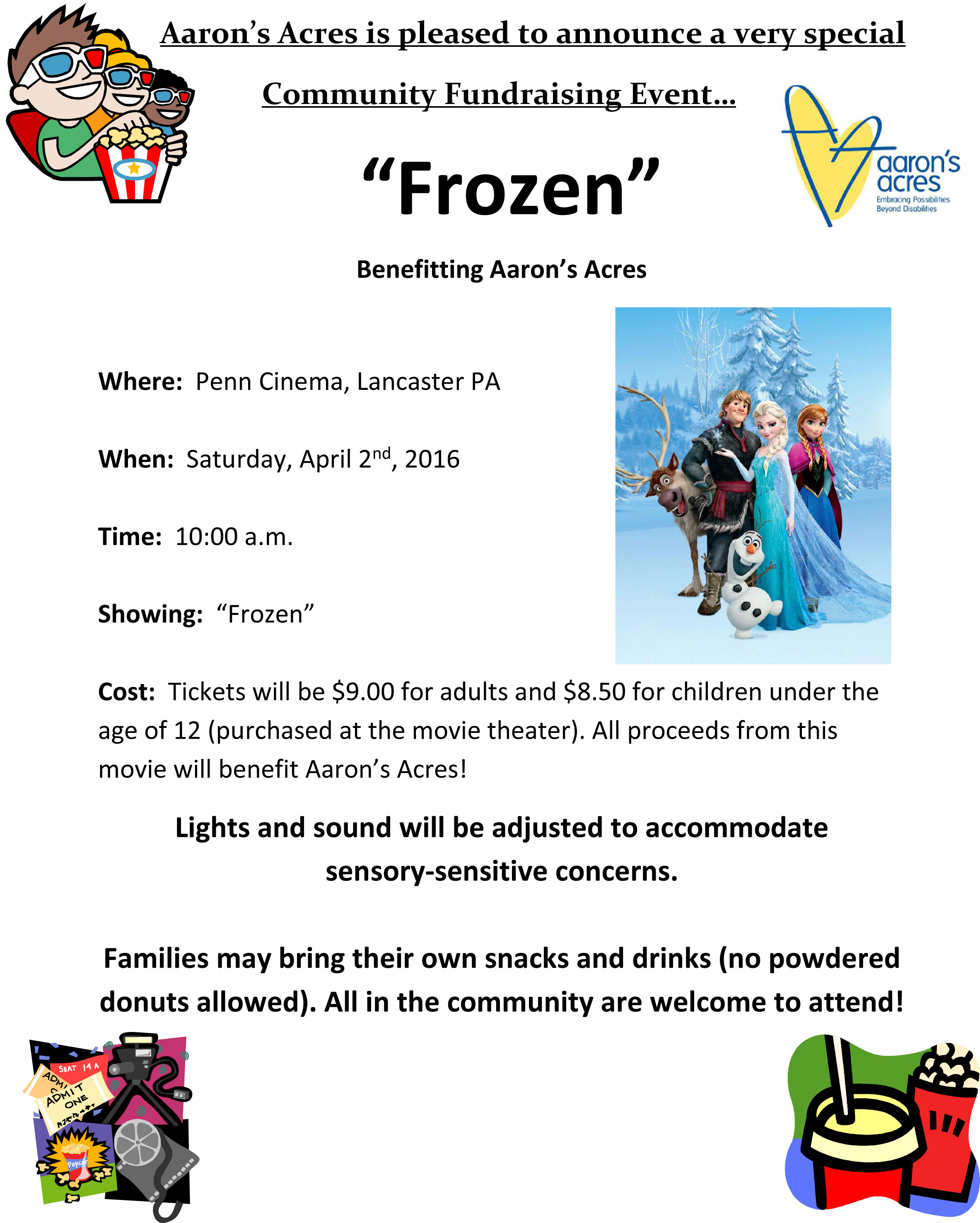 April frozen 20 fundraiser