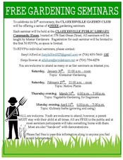 Vegetable Gardening for Beginners - start Mar 10 2016 0600PM