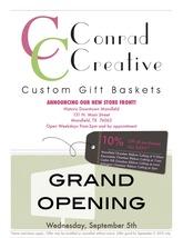 Medium store grand opening flyer