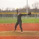 Katie Schroeder throws a pitch during a home scrimmage against Ewing on March 15 2016 Staff photo by Samantha Sciarrotta