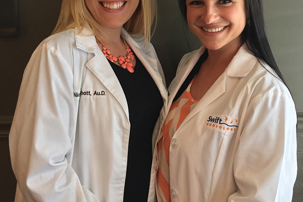 Nicole Schott, Au.D., CCC-A and Stephanie Rowan, B.S.