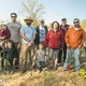 Devon Valenti Foster Valenti Grey Valenti Joe Valenti Ralph Simon Joel Dowshen Cole Ducey Cindy Gallagher Ralph Tolomeo Brian Ducey and Leah Ducey enjoy a sunny day at the community garden on April 16 2016 Photo by Suzette J Lucas