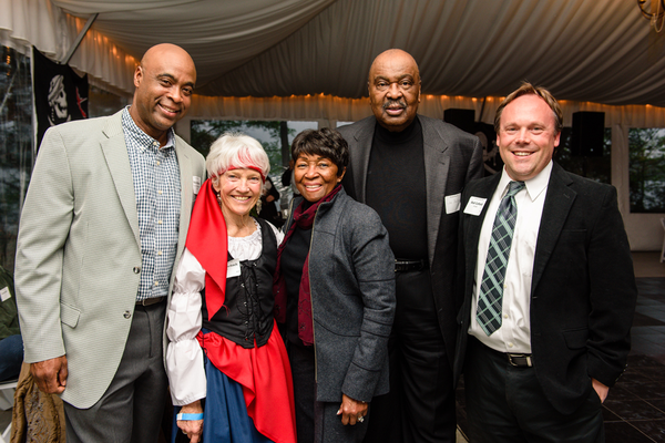 Rick Anthony, Director of Recreation and Parks for Anne Arundel County, Sally Rohrbach, Tessie Ballard, Joe Ballard, and Executive Director Rod Cofield