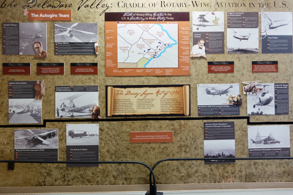 Exhibits tell the story of rotary-wing aviation history.
