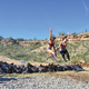 Triumph: Gina and her daughter Mary finish the Spartan Race.