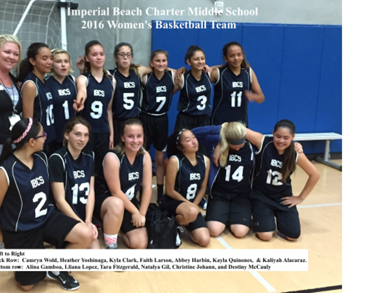 2016 Imperial Beach Charter S Women Basketball Team 1 Image Click Any To Expand