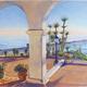 Watercolor of Casa Romantica.