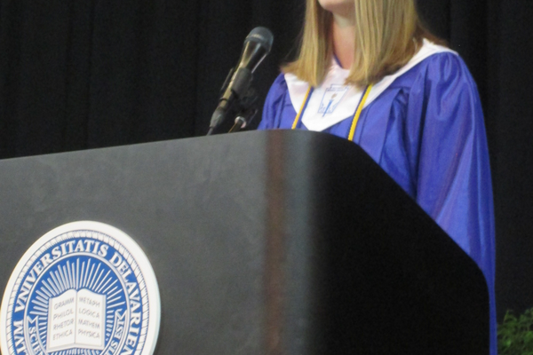Elise Covert was a student honor speaker.