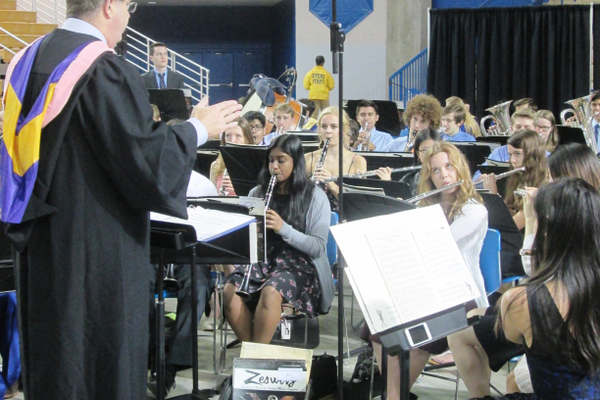The UHS Concert Band plays 'Pomp and CIrcumstance.'