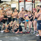 All of the throwdown competitors gather after raising money to help victims of human trafficking. —CrossFit OUR