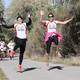 Runners leap during one of South Jordan's annual Marathons. – South Jordan City