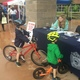 Ewan and Andy Kinghorn made the trip from Little for the Tewksbury Police Bike Safety Rodeo.