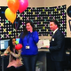 "Melinda Mansouri accepts a gift from the Jordan Education Foundation as they name her one of their ""Outstanding Educators"" for 2016. – Jordan School District"