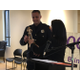 "Officer Ben Hone, of the Salt Lake Police Department, accepts the ""Officer of the Year"" award from the local chapter of the Footprinters association. –Tori La Rue"