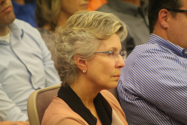Lori Nelson was designated as a representative of the Pepperwood Homeowners Association and expressed the HOA's disapproval of the project. (Photo: Chris Larson, Sandy City Journal)