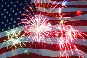 Medium flag fireworks