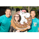 Ben Wang, Kathleen Baier, and Prince Wang, all with Sandy Pony Donuts