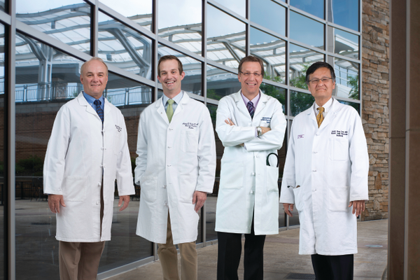 (l-r): Bradley Heppner, MD, Michael Curren, MD, Michael Fallert, MD and Joon Sup Lee, MD