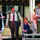 """The cast attempts to finish rehearsal during a production of """"Noises Off.""""—Scott Twitchell."""
