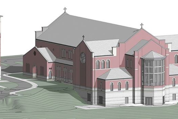 Groundbreaking for New Saint Alexis Church