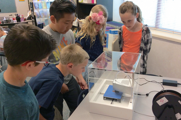 Willow Springs fourth-graders first figured out the mathematics of a project before it came to reality on their new classroom 3-D printers. Their teacher, Melody Watson, wrote and received a grant for three printers. — Melody Watson