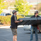Austin Cole unloading the new obstacles with his father, Lane Cole. —Sarah Knight Photography.