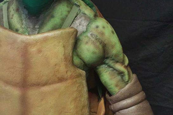 A Teenage Mutant Ninja Turtle that Russ Adams, special effects artist, created last year. – Escape Design FX