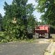 Maple Grove Public Works crews clean up debris following the July 5 2016 storm in Maple Grove photo by Wendy Erlien