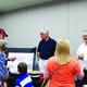 Mayor Bill Applegarth and Councilmember Paul Wayman inform residents of Riverton's Active Transportation Plan on June 11. Photo courtesy of Briana Kelley.