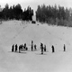 Carl Howelsen leads a family ski class, circa 1917. Photo courtesy Tread of Pioneers Museum.