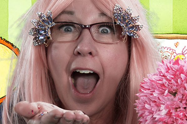 Paula Burgon pretends to be a fairy in Salt Lake County Library Services' Story Space, an online story time series. – Salt Lake County Library Services
