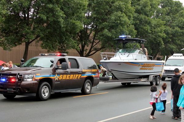 Hennepin County Sherriff Department at the 2016 Maple Grove Days Pierre Bottineau Parade along 89th Avenue Thursday, July 14