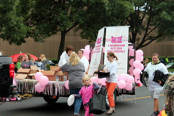The Breast Center of Maple Grove at the 2016 Maple Grove Days Pierre Bottineau Parade along 89th Avenue Thursday, July 14