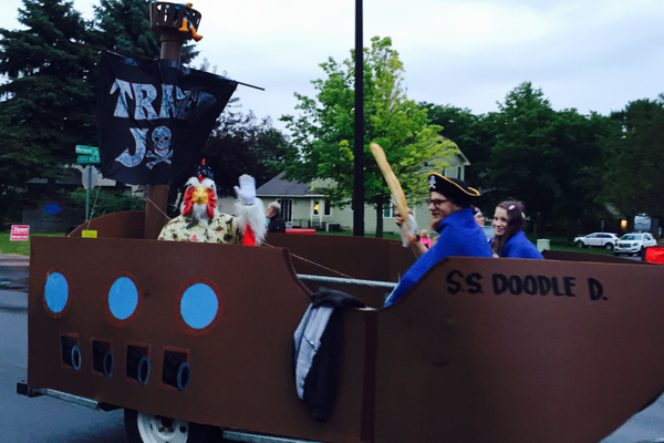 Trader Joe's at the 2016 Maple Grove Days Pierre Bottineau Parade along 89th Avenue Thursday, July 14