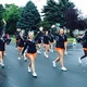 Osseo Cheerleaders at the 2016 Maple Grove Days Pierre Bottineau Parade along 89th Avenue Thursday, July 14