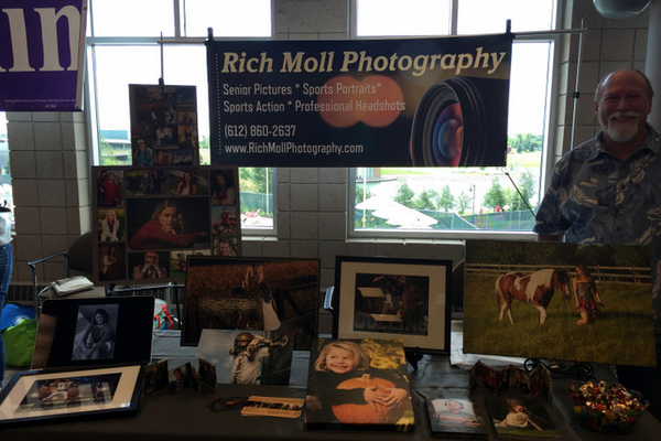 Rich Moll Photography at the Maple Grove Days Business Expo 2016. (photo by Wendy Erlien)