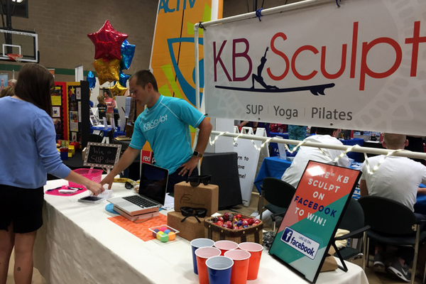 KB Sculpt at the Maple Grove Days Business Expo 2016. (photo by Wendy Erlien)