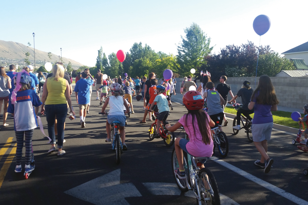 Hundreds of kids participated in this year's Children's Bike Parade. —Kelly Cannon