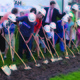 On June 11, 2015, current, former and future Midvale Middle School students took part in the ground-breaking ceremony of the new $38-million school, which is expected to be ready for students fall 2017. — Julie Slama