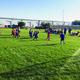 One of the Summer Outdoor Soccer Program's few girls runs the ball toward the goal. Copperview Program Coordinator Jennifer Carpenter hopes to have more girls join the outdoor soccer league starting in September 2016.