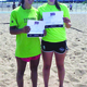 Salli Napolitano right poses with teammate Jessica Stansfield after winning a bid to the USAV Nationals after a qualifier in Staten Island