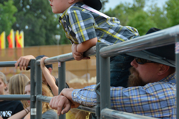 6. Brian Burks and son Wyatt