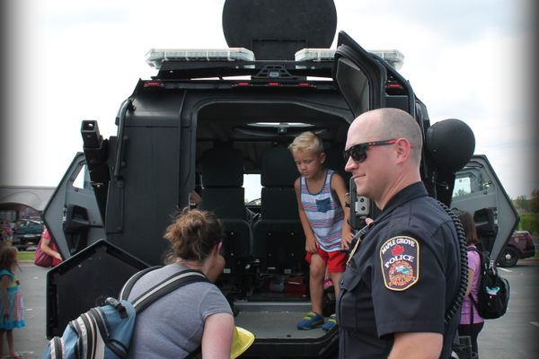 Maple Grove Police Department at the Maple Grove National Night Out Kickoff Aug. 2, 2016 at the Maple Grove Community Center. (photo by Wendy Erlien)