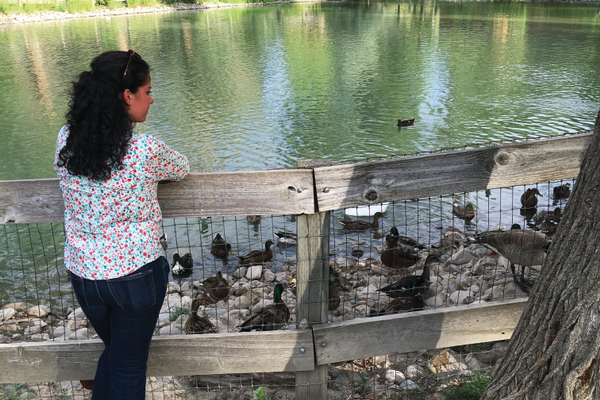 Mextli Lonzano Olguin enjoys the peace and wildlife at Wheeler Farm. Photo by Alisha Soeken
