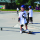 A young participant in Spock's Skate Camp comes out of the bowl. —Billy Swartzfager