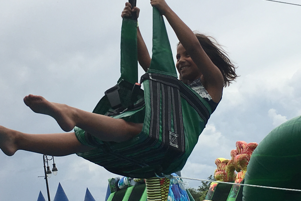 For the first time, the Riverton City Town Days offered a zip line. –Tori La Rue